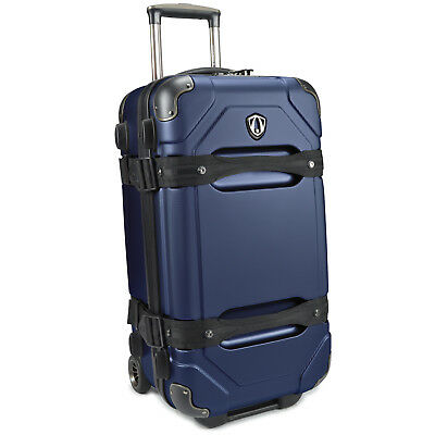 "Traveler's Choice Maxporter Polycarbonate 24"" Rolling Trunk Luggage Suitcase Bag"