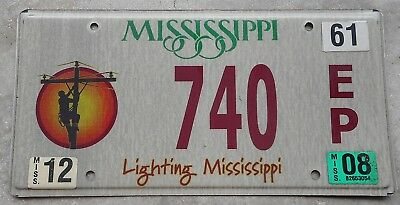 Mississippi 2008 Lighting MS. license plate #   740