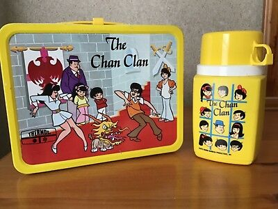 Vintage Chan Clan Lunchbox And Thermos