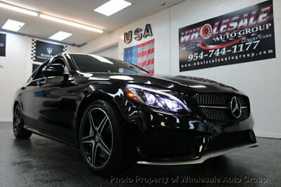 2016 Mercedes-Benz C-Class 4dr Sedan C 450 AMG 4MATIC AMG .SPORT PACKAGE. MINT CONDITION CARFAX CERTIFIED. MUST SEE. CALL 954-744-1177