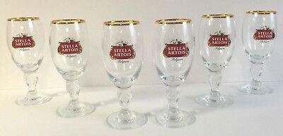 Stella Artois 15 cl Glass Chalice Belgium Beer ~ Set Of Six (6) Glasses ~ New