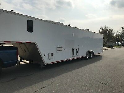 enclosed race car trailer with living quarters