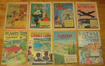 1946-1971 PROMOTIONAL & EDUCATIONAL COMICS Lot 13 Books ATOM LAND RAILS JETS+++