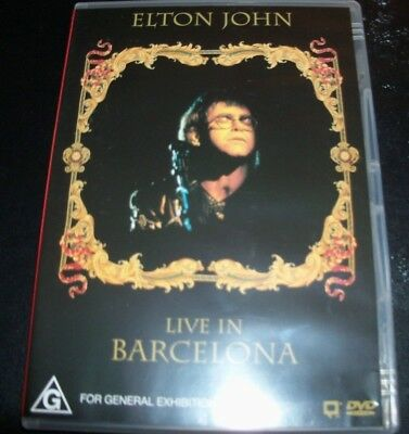 Elton John Live in Barcelona (Australia All Region) DVD - New (Not Sealed)