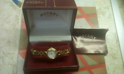 Rotary Aida Gold Plated Ladies Bracelet Watch Immaculate Work.cond.roman Numeral