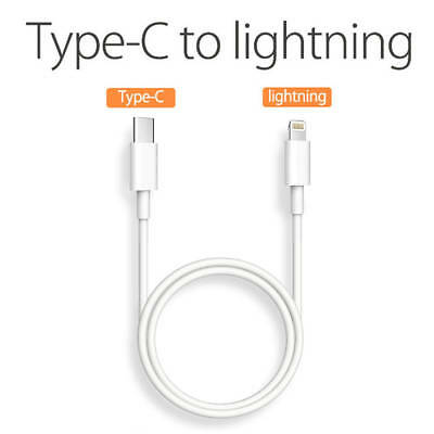 USB-C TypeC to iPhone Data Sync Charger Fast Charge Cable Cord For Apple Macbook