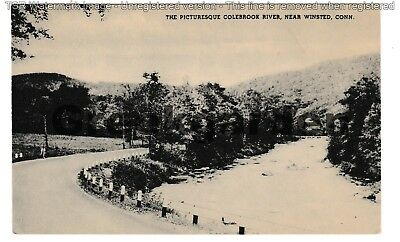 Circa 1915 ~ The picturesque Colebrook River near Winsted, CT