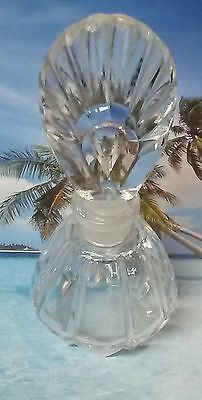 Art Deco I. Rice Clear Crystal Perfume Bottle with Fan Top Stopper