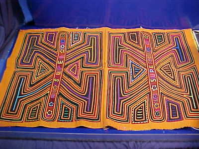 Vintage MOLA Hand Crafted VIBRANT COLOR Cloth PANEL by KUNA Natives PANAMA