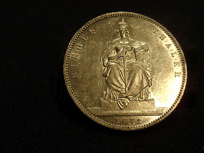 German States Prussia Sieges Thaler 1871A  Wilhelm  Extremely Fine+++