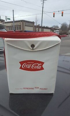 Vintage 1950s Coca Cola Fishtail 6 Pack Picnic Cooler Coke Soda Sign Carrier