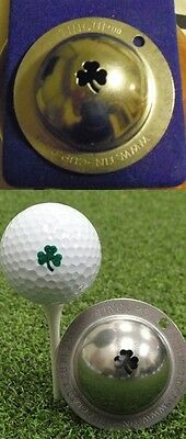 1 only TIN CUP GOLF BALL MARKER- THE SHAMROCK, YOURS FOR LIFE &  EASY TO DO