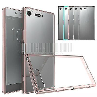 Hybrid TPU Crystal Clear Case Shockproof Bumper Cover For Sony Xperia XZ Premium