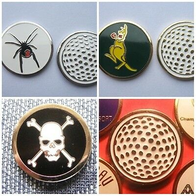1 Only 23Mm Quality Golf Ball Markers -  Kangaroo (Baked Enamel) Red Back