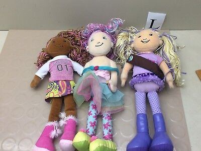 Lot of 3 Groovy Girls Dolls - Girl Scout Respectful Roxi - Belisima -Leticia