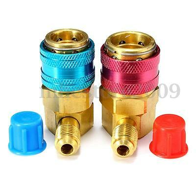 A/C Air Condition Quick Coupler Adapter High Low Manifold Connector R134A  UK