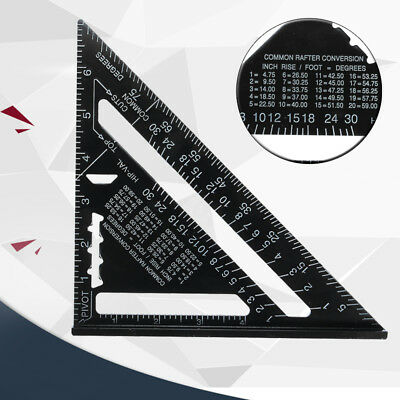 7 Inch Metric Aluminum Alloy Speed Square Roofing Triangle Angle Protractor  UK