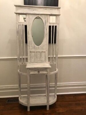 Shabby Chic Timber Hallway Entrance Stand Table Cabinet