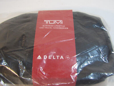 NEW Delta Airlines Tumi Black Cover Business Class Sealed Amenity Kit