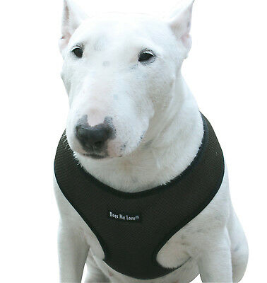 Dogs My Love Soft Mesh Walking Harness for Dogs and Puppies 6 Sizes Khaki
