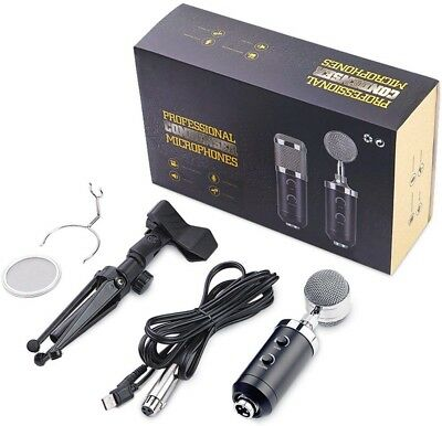 USB PC Microphone ZealSound Professional Studio Condenser Computer Kit with for