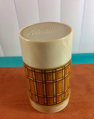 Vintage 1950s WM4040 Plaid Aladdin's Best Buy Wide Mouth Pint Thermos Bottle NEW