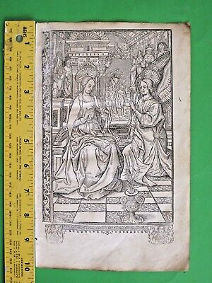 Rare BoH leaf,Paper,Miniature,Annunciation&Fall from Grace in Paradise,c.1515