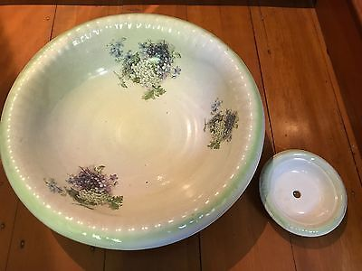 Antique wash bowl and soap dish-no chips