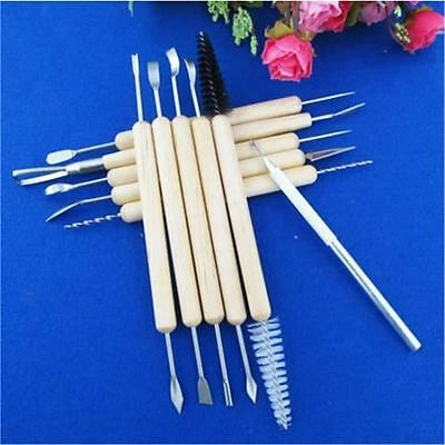11pcs Clay Sculpting Set Wax Carving Pottery Tools Shapers Polymer Modeling CS