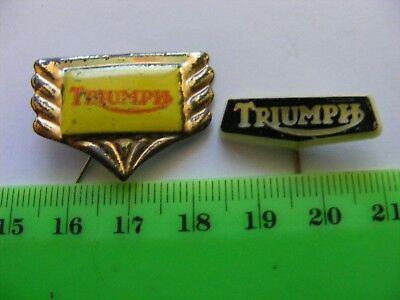 TRIUMPH  motorcycle ,,Lot of 2 very old pin badges..1950s & 1960s.