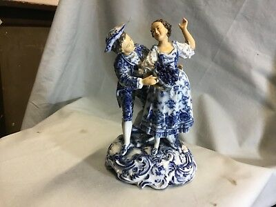 Porcelain Courting Couple circa 1900 figurine by Triebner Ens & Eckert