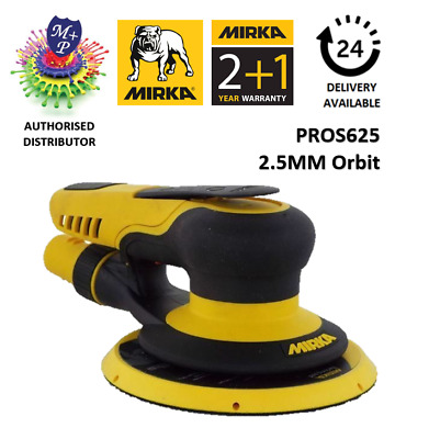 Mirka PROS 625CV 150mm Central Vacuum 2.5mm Air Powered Random Orbital Sander