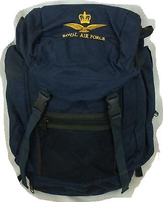 Royal Air Force RAF marked blue backpack