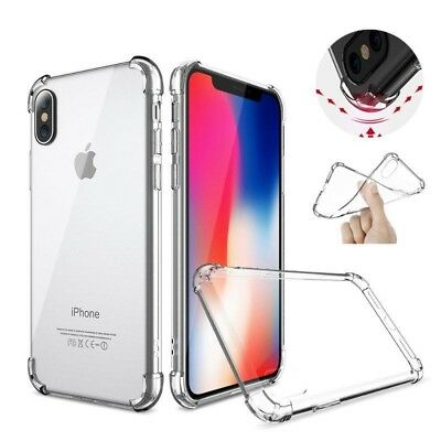 """iPhone XR Case 6.1"""" Silicone Crystal Clear Bumper Gel iPhone 10R Cover"""