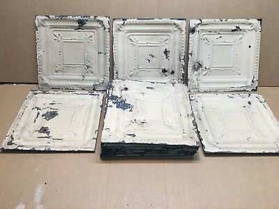 "20pc Lot of 11.5"" by 11.5"" Antique Ceiling Tin Vintage Reclaimed Salvage Craft"