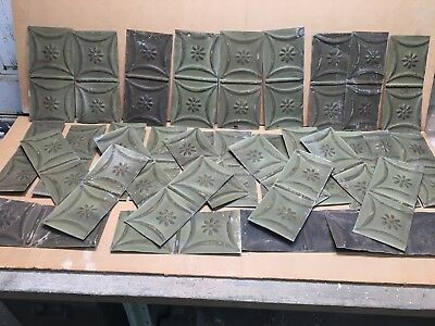 "30pc Lot of 5"" by 11"" Antique Ceiling Tin Vintage Reclaimed Salvage Art Craft"