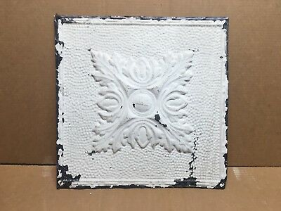 "1pc 17"" x 17"" Piece Antique Ceiling Tin Vintage Reclaimed Salvage Art Craft"