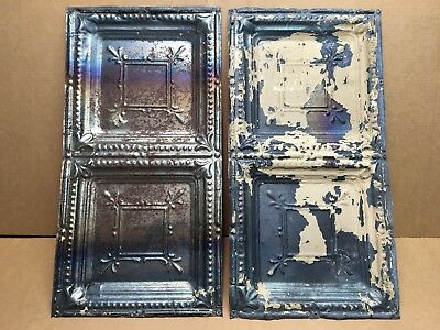 "2pc Lot of 12"" by 24"" Antique Ceiling Tin Vintage Reclaimed Salvage Art Craft"