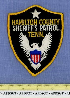 HAMILTON COUNTY SHERIFF PATROL (Old Vintage) TENNESSEE Police Patch CHEESECLOTH