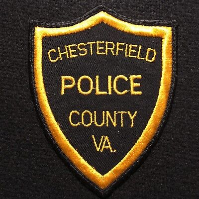 Virginia - Chesterfield County VA Police Department Patch / CHEESECLOTH BACKING
