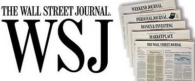7-MONTH The Wall Street Journal WSJ PRINT ONLY Newspaper Subscription (Mon-Sat)