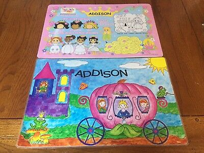 Two Girls ADDISON Princess Activity Placemats Specially For Me