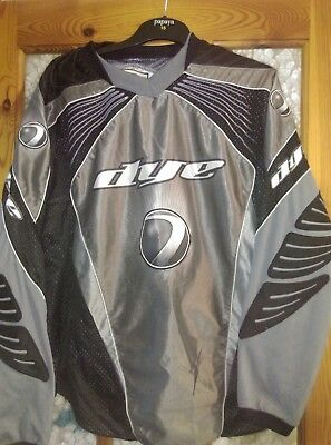 paintball jersey dye xlarge silver and black used