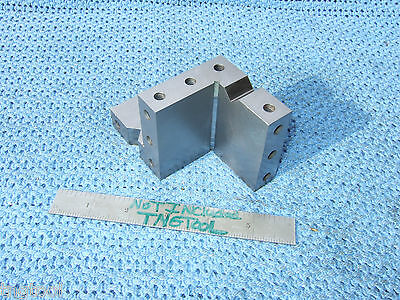 Compound Angle Plate Vee's 2-1/2 Angle Machinist Precise Inspection Grinder Used