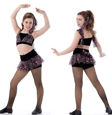Live It Up Dance Costume Crop Top & Skirted High Waisted Shorts 6X7 CM AS AM AL