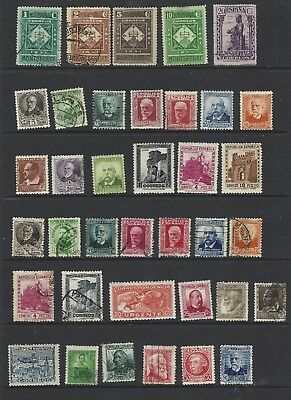 Spain stamps, 37 early (1931, 1934-35.) used and unused