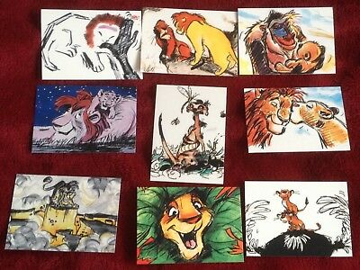 SkyBox 1994 The Lion King Series 2 Set of 9 T1-T9 Concept Art Chase Cards