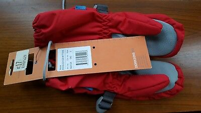 RED didriksons biggles kids gloves