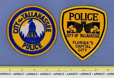 TALLAHASSEE (2 Patches OLD+NEW) FLORIDA Police Patch STATE CAPITOL BUILDING