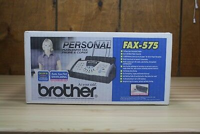 Brother FAX-575 Personal Plain Paper Fax, Phone and Copier BRAND NEW!